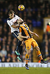 Tottenham's Jan Vertonghen tussles with Hull's Robert Snodgrass during the Premier League match at White Hart Lane Stadium, London. Picture date December 14th, 2016 Pic David Klein/Sportimage
