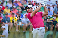 Paul Casey (GBR) watches his tee shot on 1 during Saturday's round 3 of the 117th U.S. Open, at Erin Hills, Erin, Wisconsin. 6/17/2017.<br /> Picture: Golffile | Ken Murray<br /> <br /> <br /> All photo usage must carry mandatory copyright credit (&copy; Golffile | Ken Murray)