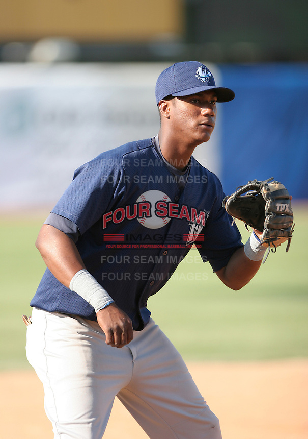 Rayner Contreras of the Fort Wayne Wizards during the Midwest League All-Star game.  Photo by:  Mike Janes/Four Seam Images