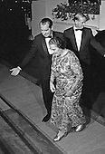 United States President Richard M. Nixon greets Prime Minister Golda Meir of Israel on the North Portico of the White House in Washington, DC on Thursday, September 25, 1969.  Prime Minister Meir was visiting the United States and was honored at a State Dinner. <br /> Credit: Arnie Sachs / CNP