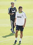 MADRID (11/08/2010).- Real Madrid training session at Valdebebas. Sami Khedira and Jose Mourinho...Photo: Cesar Cebolla / ALFAQUI