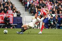 7th March 2020; Wanda Metropolitano Stadium, Madrid, Spain; La Liga Football, Atletico de Madrid versus Sevilla; Diego Costa (Atletico de Madrid) gets his shot towards goal