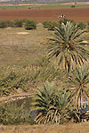 Israel, Beth Shean Valley, a view of Ein Abraham from Tel Shalem in Kibbutz Tirat Zvi