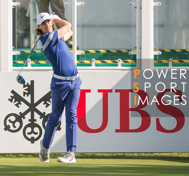 Tommy Fleetwood of England tees off the first hole during the 58th UBS Hong Kong Open as part of the European Tour on 08 December 2016, at the Hong Kong Golf Club, Fanling, Hong Kong, China. Photo by Marcio Rodrigo Machado / Power Sport Images