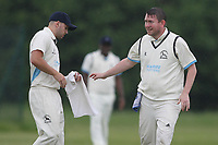 Kurt Whisker of Gorebrook  Goresbrook CC (Bowling)  vs Rainham CC (Batting), T Rippon Mid Essex Cricket League Cricket at May & Baker Sports Club on 12th May 2018