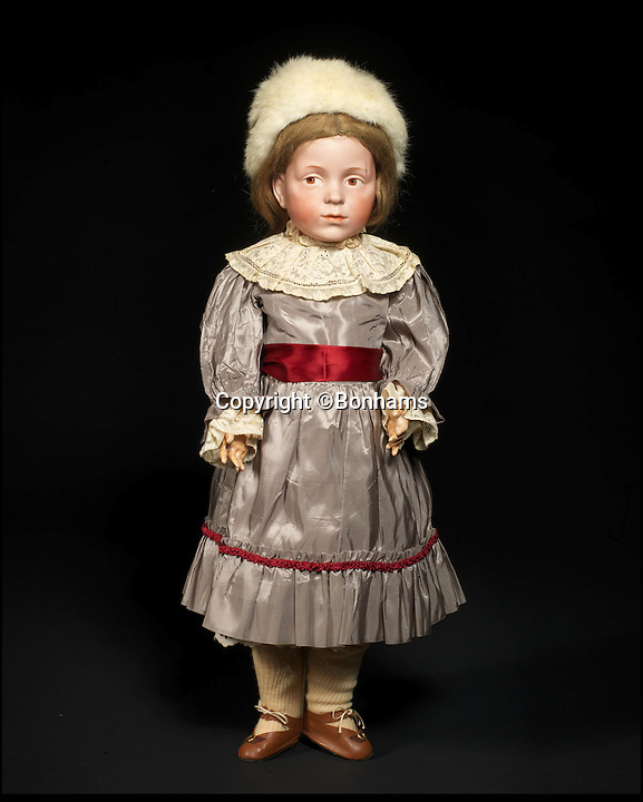 BNPS.co.uk (01202 558833)<br /> Pic: Bonhams/BNPS<br /> <br /> ***Please Use Full Byline***<br /> <br /> Extremely rare Kammer &amp; Reinhardt 103 Bisque head charcter doll. <br /> <br /> A creepy collection of almost 100 'lifelike' dolls modelled on children has emerged for sale with a whopping half a million pounds price tag. <br /> <br /> The eerie-looking toys were made in Germany in the early 20th century as dollmakers strived to produce dolls with realistic human features.<br /> <br /> The collection of 92 dolls, which includes some of the rarest ever made, has been pieced together by a European enthusiast over the past 30 years.<br /> <br /> It is expected to fetch upwards of &pound;500,000 when it goes under the hammer at London auction house Bonhams tomorrow (Weds).