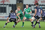 Connacht replacement Darragh Leader takes on Ospreys centre Aisea Natoga.<br /> Guiness Pro12<br /> Ospreys v Connacht<br /> Liberty Stadium<br /> 31.10.14<br /> &copy;Steve Pope-SPORTINGWALES