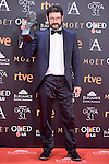 Manolo Solo pose to the media with the Goya award at Madrid Marriott Auditorium Hotel in Madrid, Spain. February 04, 2017. (ALTERPHOTOS/BorjaB.Hojas)