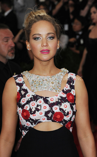 WWW.ACEPIXS.COM<br /> <br /> May 4, 2015, New York City<br /> <br /> Jennifer Lawrence attending the Costume Institute Benefit Gala celebrating the opening of China: Through the Looking Glass at The Metropolitan Museum of Art on May 4, 2015 in New York City.<br /> <br /> By Line: Kristin Callahan/ACE Pictures<br /> <br /> <br /> ACE Pictures, Inc.<br /> tel: 646 769 0430<br /> Email: info@acepixs.com<br /> www.acepixs.com