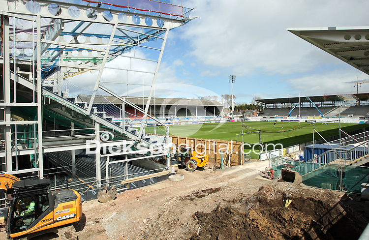 Ravenhill Development  - <br /> <br /> GV's of development work at the Ravenhill Stadium Belfast<br /> <br /> <br /> Mandatory Credit - Photo by John Dickson / DICKSONDIGITAL