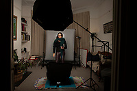 Annuska Angulo, Portrait session at 116 Erlanger in London.
