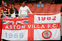 Aston Villa fans during the Premier League match between Arsenal and Aston Villa at the Emirates Stadium, London, England on 22 September 2019. Photo by Carlton Myrie / PRiME Media Images.