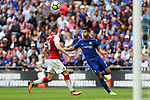 Alvaro Morata of Chelsea and Rob Holding of Arsenal during the The FA Community Shield match at Wembley Stadium, London. Picture date 6th August 2017. Picture credit should read: Charlie Forgham-Bailey/Sportimage