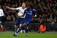 Antonio Rudiger of Chelsea and Harry Kane of Tottenham Hotspur during Tottenham Hotspur vs Chelsea, Caraboa Cup Football at Wembley Stadium on 8th January 2019