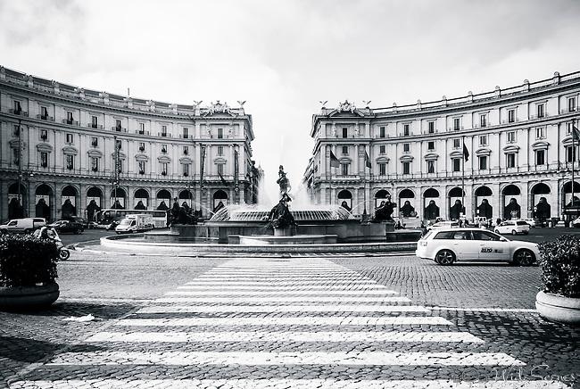 Piazza Repubblica in Rome, Italy