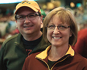 Mike and Lori Yates - The University of Minnesota Golden Gophers defeated the University of North Dakota 2-1 on Thursday, April 10, 2014, at the Wells Fargo Center in Philadelphia to advance to the Frozen Four final.