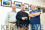 Members of the Cois Lí Camera Club,  Sean Curtain, Paul Woods and Graham Davies at their exhibition in the Tralee Library on Tuesday.