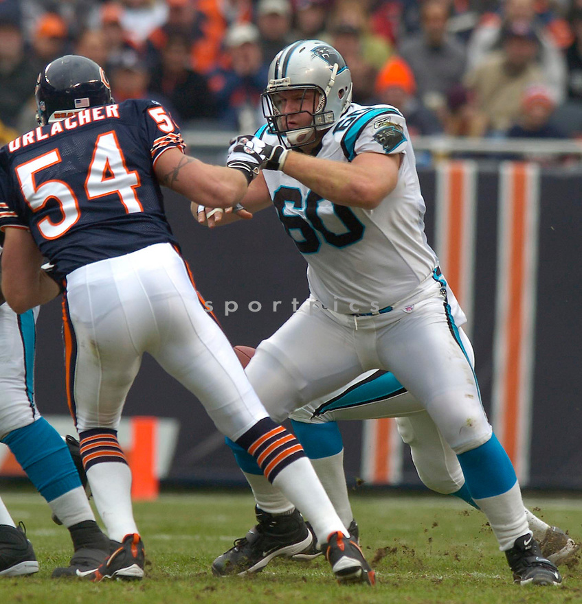 Jeff Mitchell, of the Carolina Panthers, in action during thier game against the Chicago Bears on November 20, 2005...David Durochik / SportPics..Bears win 13-3