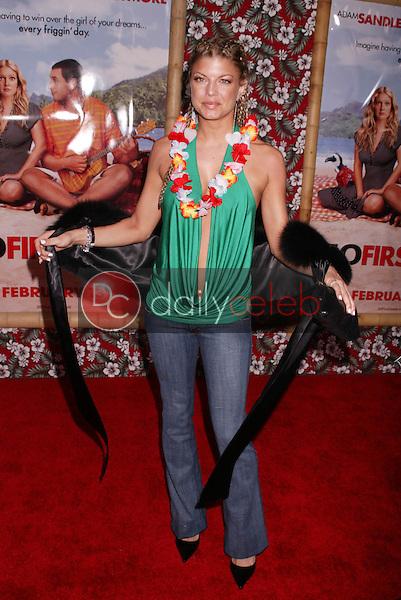 Fergie, of Black Eyed Peas