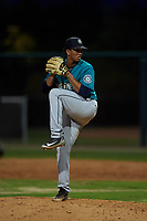 AZL Mariners relief pitcher Cristhopher Marte (35) during an Arizona League game against the AZL D-backs on July 3, 2019 at Salt River Fields at Talking Stick in Scottsdale, Arizona. The AZL D-backs defeated the AZL Mariners 3-1. (Zachary Lucy/Four Seam Images)