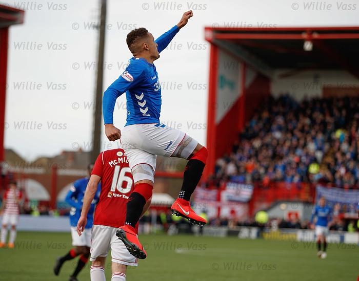 24.02.2019: Hamilton v Rangers: James Tavernier celebrates his goal