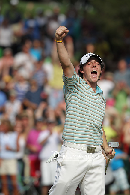 02 May 2010: Rory McIlroy celebrates his first PGA win during the final round of the Quail Hollow Championship. The final round of the Quail Hollow Championship was played at the Quail Hollow Country Club in Charlotte, North Carolina and saw Rory McIlroy claim his first PGA win.Mandatory Credit: Jim Dedmon/ ZUMA Press