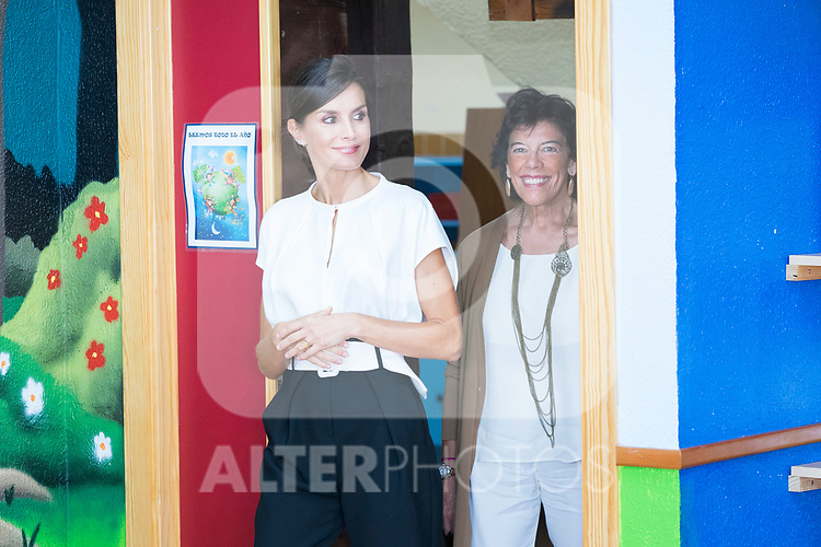 Queen Letizia of Spain and Education Minister Isabel Celaa during the opening of School Year in Torrejoncillo (Caceres). September 17, 2019. (ALTERPHOTOS/Francis Gonzalez)