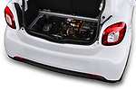 Car stock 2018 Smart forfour Passion 5 Door Hatchback engine high angle detail view