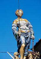 Schweiz, Gerechtigkeitsbrunnen in der Gerechtigkeitsgasse in Bern, Weltkulturerbe, Welterbe der Unesco, world heritage