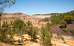 Despoiled landscape opencast mineral extraction, Minas de Riotinto mining area, Huelva province, Spain