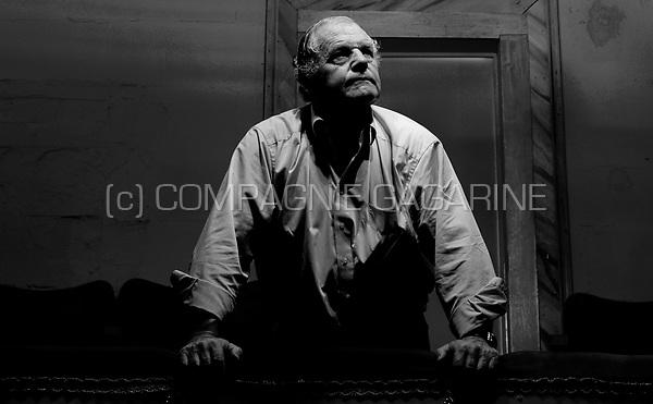Flemish actor and theatre director Jo Decaluwé in his Tinnenpot theatre in Ghent (Belgium, 24/08/2007)
