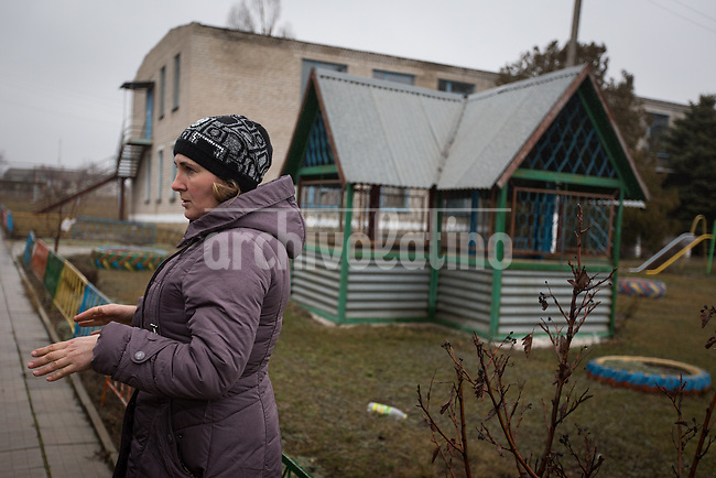 A kindergarden  in the eastern Ukraine town of Chimarik, near the city of Mariupol, one of the targets of the pro Russian groups trying to seize control of the region. The building was attacked by mortars
