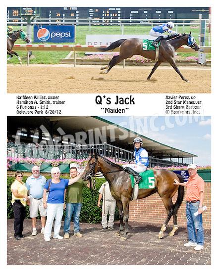 Q's Jack winning at Delaware Park on 8/20/12