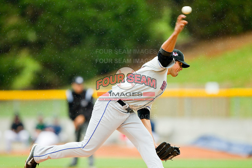 Buffalo Bison relief pitcher Fernando Cabrera #58 in action against the Charlotte Knights at Knights Stadium on May 13, 2012 in Fort Mill, South Carolina.  The Bison defeated the Knights 7-6.  (Brian Westerholt/Four Seam Images)