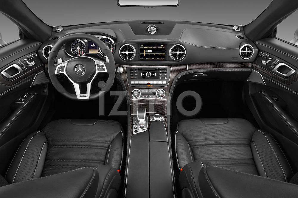 Straight dashboard view of a 2013 Mercedes-Benz SL-Class SL63 AMG Convertible