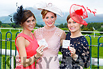 Jackie Simpson Kenmare, Deirdre and Marita Keane Kilgarvan enjoying ladies day at  Killarney Races on Saturday