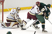 Cory Schneider, Dan Bertram, Torrey Mitchell - The Boston College Eagles completed a shutout sweep of the University of Vermont Catamounts on Saturday, January 21, 2006 by defeating Vermont 3-0 at Conte Forum in Chestnut Hill, MA.