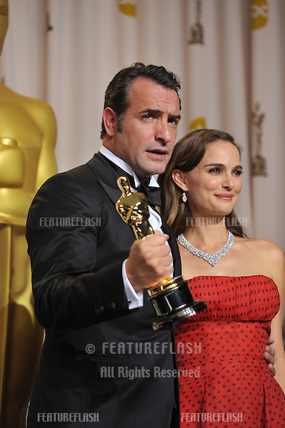 Jean Dujardin & Natalie Portman at the 82nd Academy Awards at the Hollywood & Highland Theatre, Hollywood..February 26, 2012  Los Angeles, CA.Picture: Paul Smith / Featureflash.