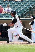 Rochester Red Wings outfielder Jeremy Reed #10 at bat during a game against the Norfolk Tides at Frontier Field on June 5, 2011 in Rochester, New York.  Norfolk defeated Rochester 11-5 in eleven innings.  Photo By Mike Janes/Four Seam Images