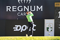 Brandon Stone (RSA) tees off the 18th tee during Friday's Round 2 of the 2018 Turkish Airlines Open hosted by Regnum Carya Golf &amp; Spa Resort, Antalya, Turkey. 2nd November 2018.<br /> Picture: Eoin Clarke | Golffile<br /> <br /> <br /> All photos usage must carry mandatory copyright credit (&copy; Golffile | Eoin Clarke)