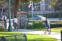 Kids Riding Bikes at George Washington Park in Anaheim