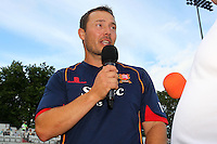 Graham Napier of Essex speaks ahead of Essex Eagles vs Glamorgan, NatWest T20 Blast Cricket at the Essex County Ground on 29th July 2016