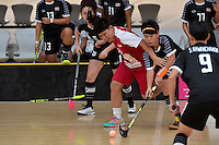 Singapore&rsquo;s Wilna Tan and Thailand&rsquo;s Thanaporn Tongkham in action during the World Floorball Championships 2017 Qualification for Asia Oceania Region - Singapore v Thailand at ASB Sports Centre , Wellington, New Zealand on Sunday 5 February 2017.<br /> Photo by Masanori Udagawa<br /> www.photowellington.photoshelter.com.