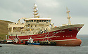 19/10/2005         Copyright Pic : James Stewart.File Name : jspa03 shetland fish.THE SUPER TRAWLER, ALTAIRE, DWARFS OTHER BOATS AS IT SITS AT THE PIER AT THE COLLA FIRTH ON SHETLAND...Payments to :.James Stewart Photo Agency 19 Carronlea Drive, Falkirk. FK2 8DN      Vat Reg No. 607 6932 25.Office     : +44 (0)1324 570906     .Mobile   : +44 (0)7721 416997.Fax         : +44 (0)1324 570906.E-mail  :  jim@jspa.co.uk.If you require further information then contact Jim Stewart on any of the numbers above.........