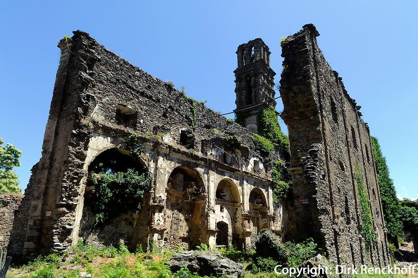 Ruine Couvent d'Orezza von Piediroce in der Castaniccia, Korsika, Frankreich