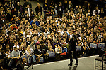 Senator Barack Obama, Democratic presidential candidate, campaign speech the the Key Arena, Seattle, Washington, February 8, 2008