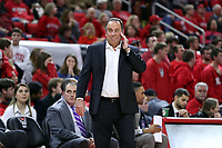 RALEIGH, NC - JANUARY 9: Head coach Mike Brey of the University of Notre Dame during a game between Notre Dame and NC State at PNC Arena on January 9, 2020 in Raleigh, North Carolina.