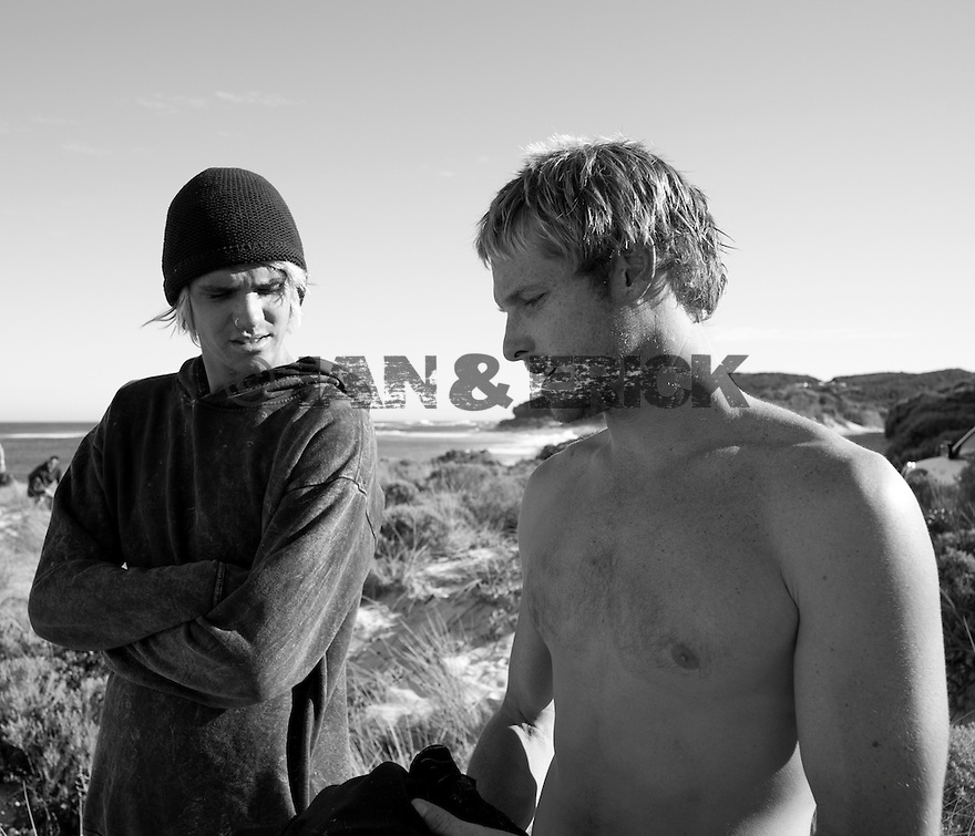 Sam Bennet and Joe Clark at Gas Bay in Margaret River in Western Australia.