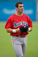 Ryan Gugel #31 of the Lakewood BlueClaws at Fieldcrest Cannon Stadium July 8, 2009 in Kannapolis, North Carolina. (Photo by Brian Westerholt / Four Seam Images)
