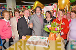 Open the 50th Anniversary celebrations of Harnett's Spar Abbeyfeale on Saturday were Spar Abbeyfeale owner James Harnett, special guest Fair City's Tom Hopkins who played Christy Phelan, Eileen Harnett and Dan Harnett, Spar Abbeyfeale